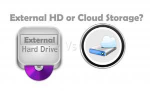 external hard drive vs cloud storage