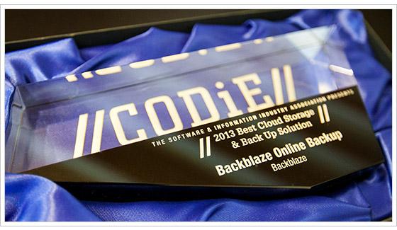 Bacblaze SIIA codie Awards