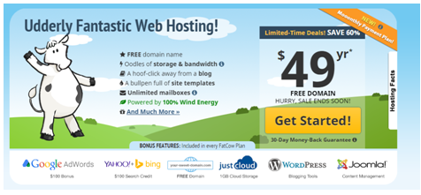 cow website hosting