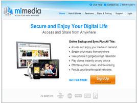 MiMedia Online Backup